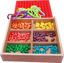 Load image into Gallery viewer, Froebel Gifts J2- Pegs And Lacing Box