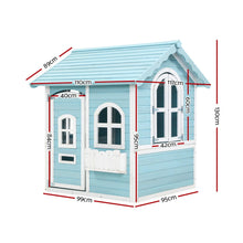 Load image into Gallery viewer, Kids Wooden Cubby House Outdoor Playhouse Pretend Play Set Childrens Toy