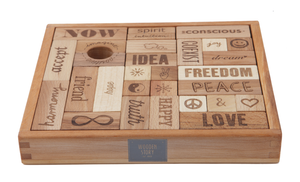 Wooden Story Blocks Natural Peace and Love®, 29 pieces