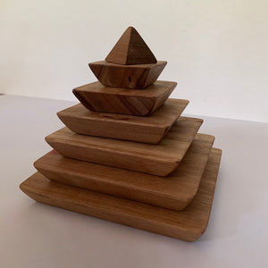 In-wood Natural Sacred Geometry Pyramid