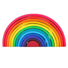 Load image into Gallery viewer, Large Wooden Rainbow 12 pieces