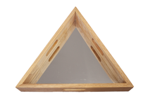 Load image into Gallery viewer, Triangular Mirror Trays Set of 3