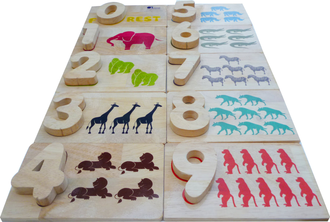 Wild Life Number Matching Game
