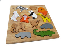 Load image into Gallery viewer, Animal Play Set & Puzzle