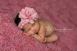 Mauve Flower Headband