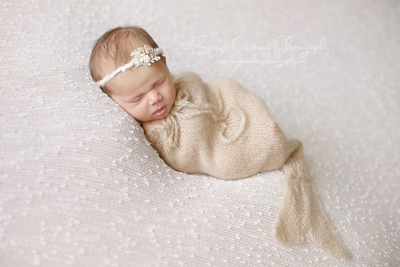 Beige Mermaid Snuggle Sack and Tie Back