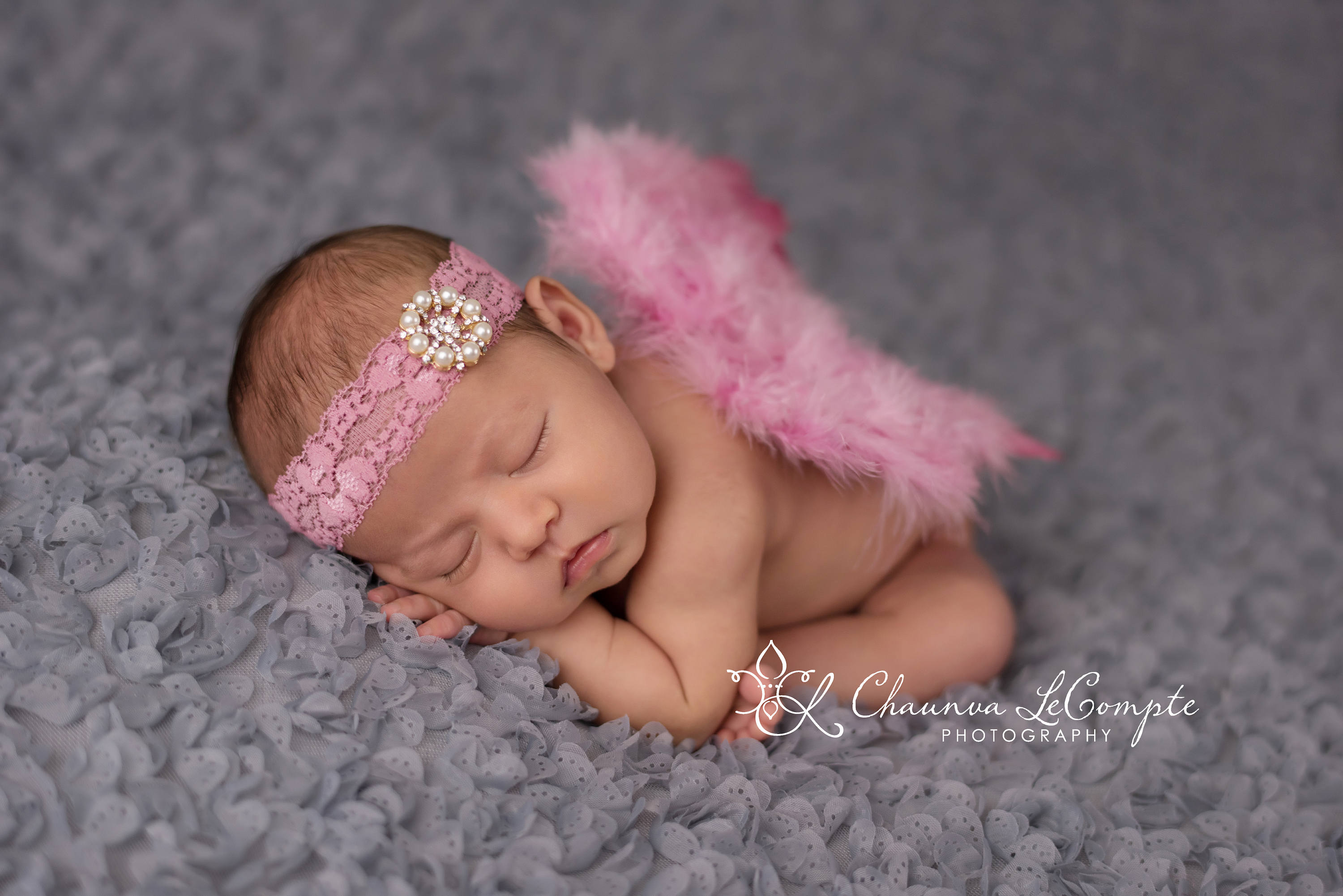Rose Angel Wing and Lace Headband