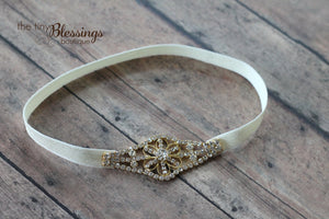 Rhinestone Headband and Ring