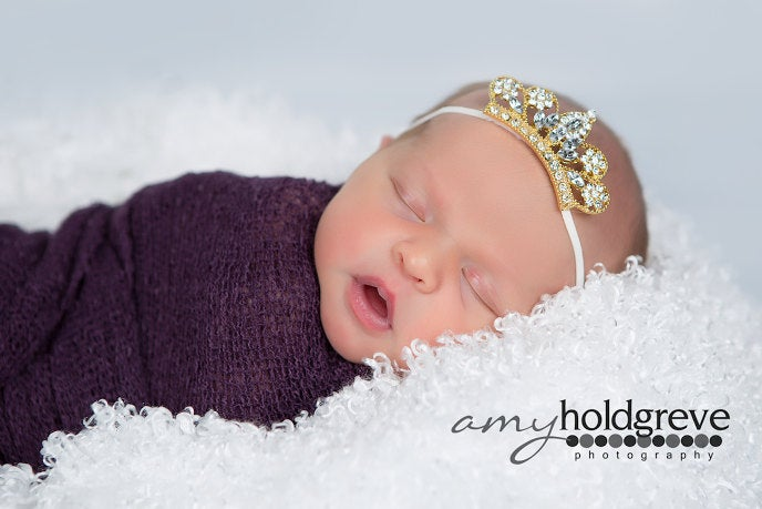 Gold Rhinestone Crown Headband