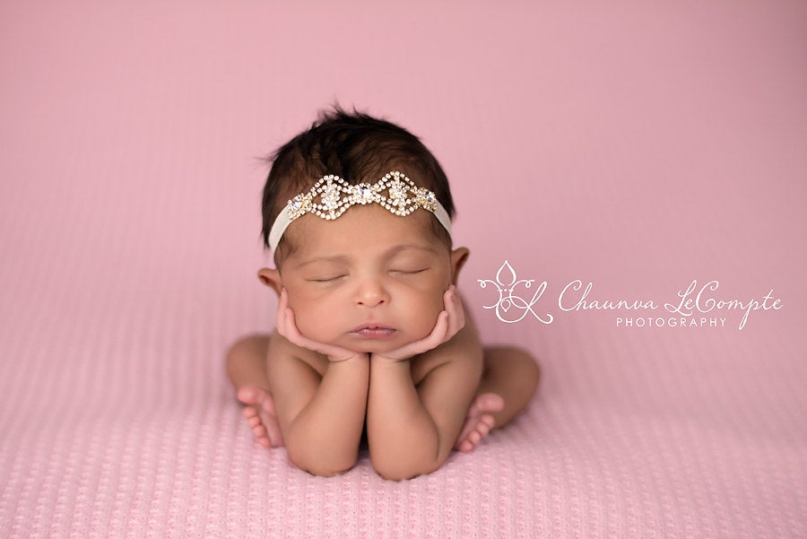 Gold Rhinestone Headband