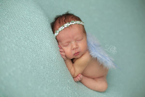 Baby Blue Angel and Floral Headband