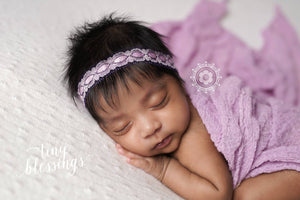 Lavender and Purple Lace Headband