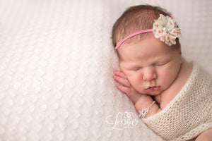 Ivory and Pink Floral Headband