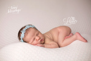 Baby Blue Floral Lace Headband