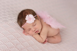 Baby Pink Angel Baby Wing and Baby Headband Set