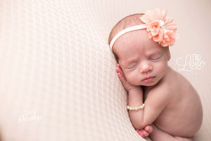 Peach Flower Headband