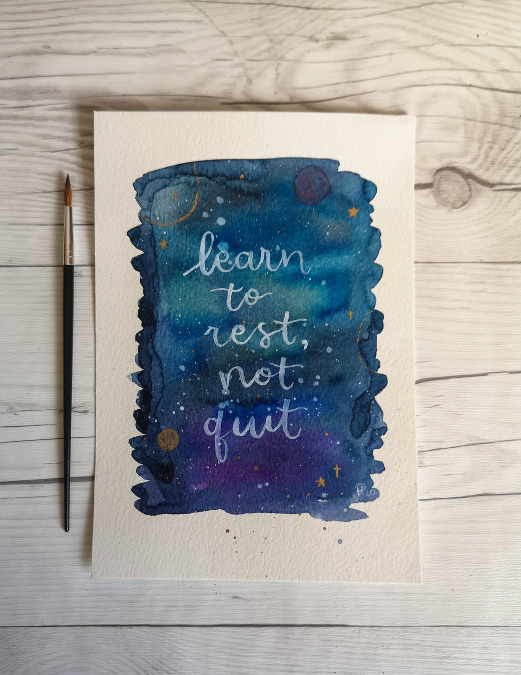 A5 - Learn to rest not quit - Night Whale Designs