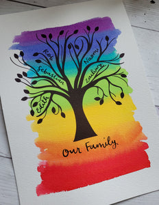 Rainbow Family Tree - Night Whale Designs
