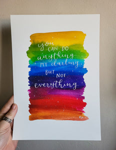 Print - You can do anything (Rainbow) - Night Whale Designs
