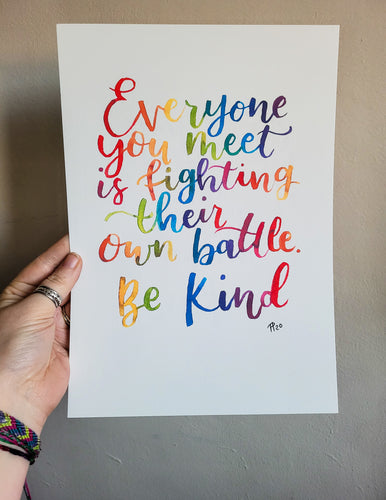 Print - Be Kind - Night Whale Designs