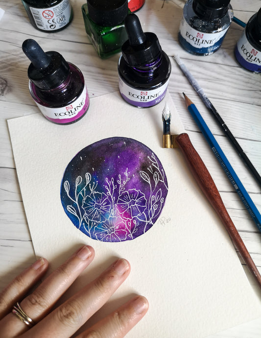 A5 - Floral Galaxy - Night Whale Designs