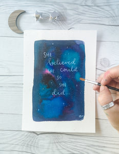 A5 - She believed she could so she did
