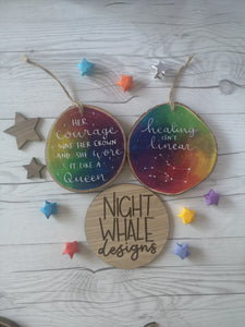 Wood Slice - Fully Custom Galaxy Wood Slice - Night Whale Designs