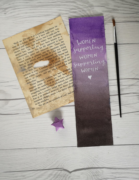 Bookmark - Women Supporting Women - Night Whale Designs