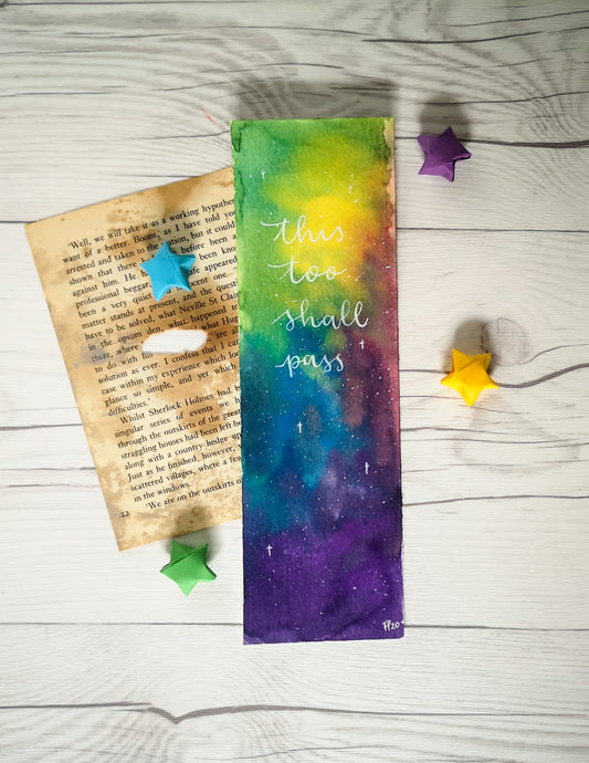 Bookmark - This too shall pass - Night Whale Designs