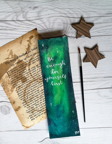 Bookmark - Be enough - Night Whale Designs