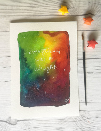 A5 - Everything will be alright - Night Whale Designs