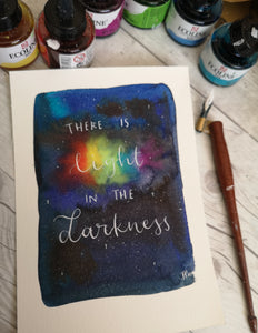 A5 - Custom Order - There is light in the darkness - Night Whale Designs