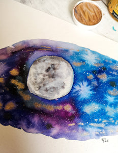 A5 - Galaxy Moon 1 - Night Whale Designs