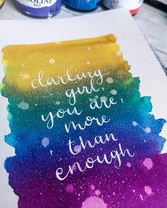 A5 - Darling Girl, You are More than Enough - Night Whale Designs