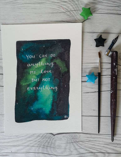 Print - You can do anything (Galaxy) - Night Whale Designs