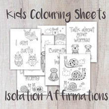 Load image into Gallery viewer, Digital Download - Kids Affirmation Colouring Sheets - Night Whale Designs