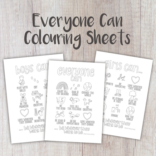 Digital Download - Everyone Colouring Sheets - Night Whale Designs