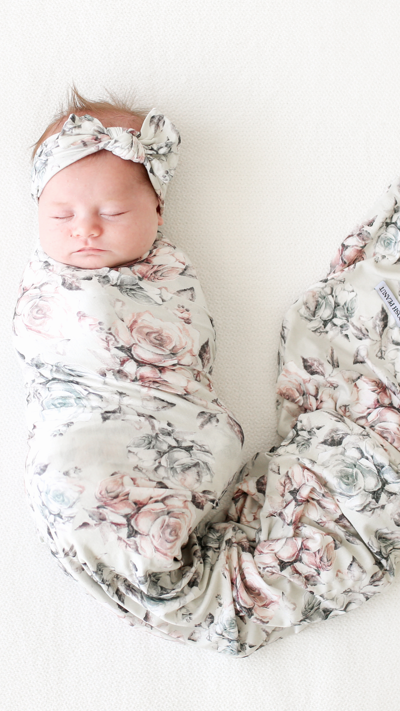 Posh Peanut Daniella Infant Swaddle and Headwrap