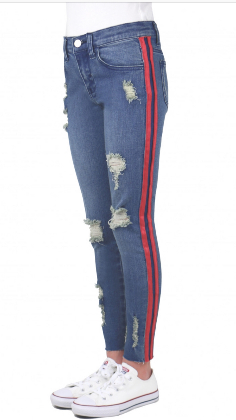 Tractr Red Strip Jean