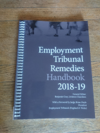 Just Published! The 2018-19 edition of our Employment Tribunal Remedies Handbook