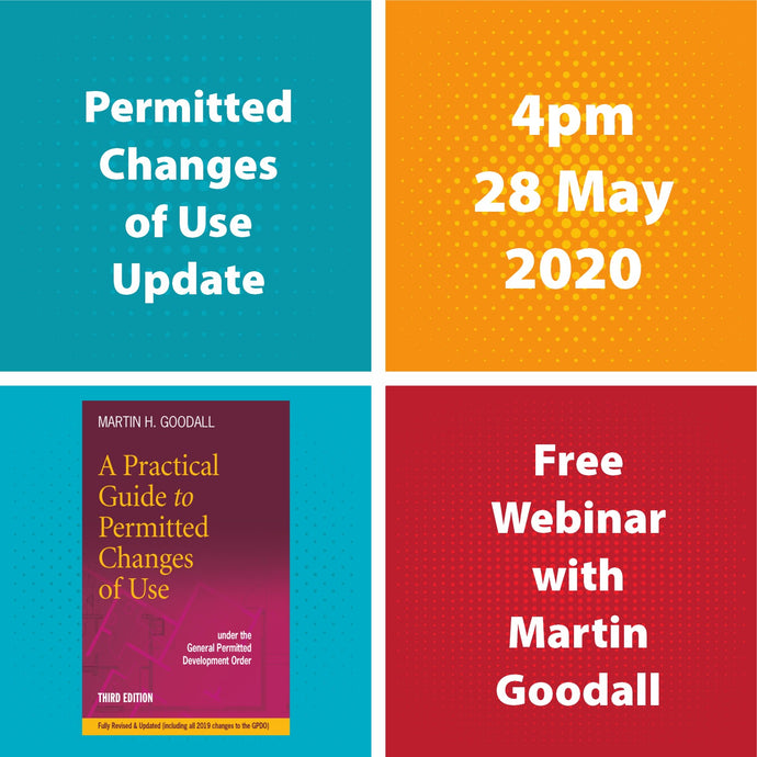 Permitted Changes of Use update: Meet the Author free webinar