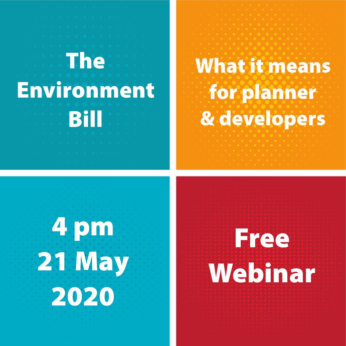 The Environment Bill and what it means for planning & development: Meet the Author free webinar