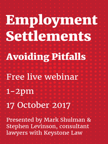 Employment Settlements: Avoiding Pitfalls (webcast)
