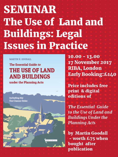 The Use of Land and Buildings: Legal Issues in Practice