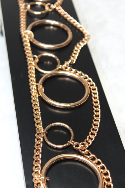 "Layered ""O"" Ring Chain Belt"
