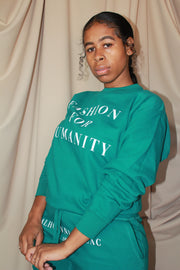 Broadway Blvd Crew Neck |  Tuesday Teal