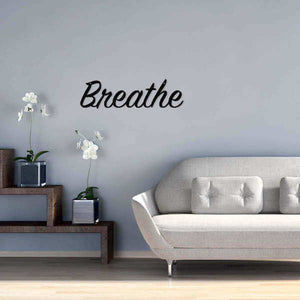 "Metal Wall Art - ""Breathe"" - Home & Oasis"