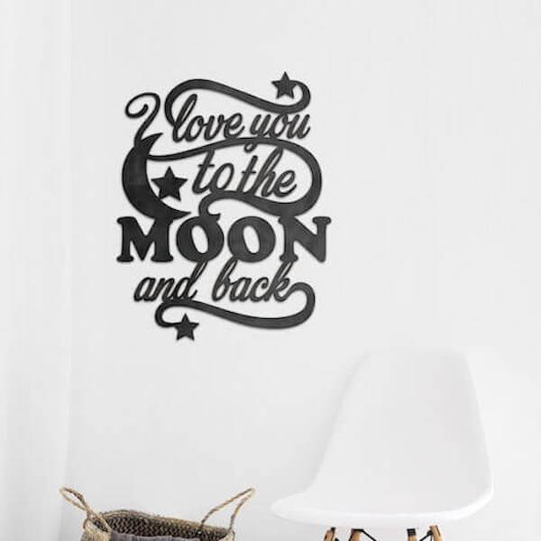 Moon and Back Metal Wall Art - Home & Oasis