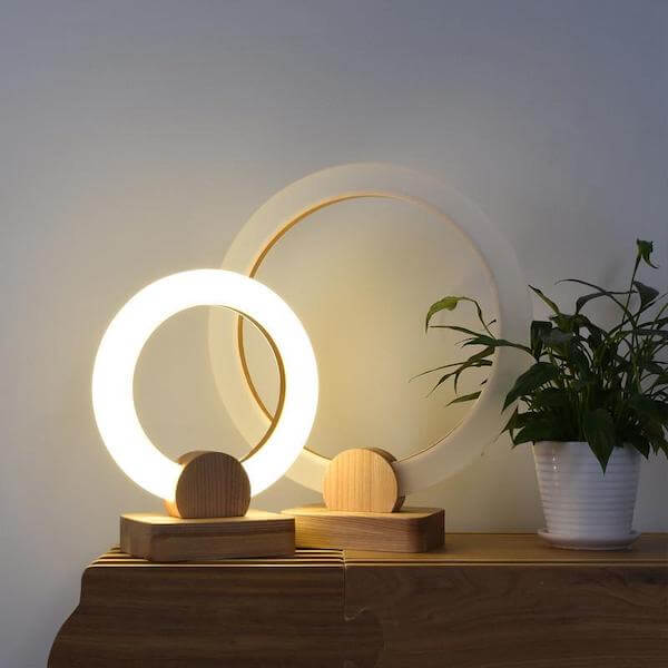 Radiant Ring Table Lamp - Home & Oasis