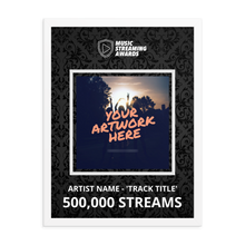 Load image into Gallery viewer, 500K Music Streams Framed Award